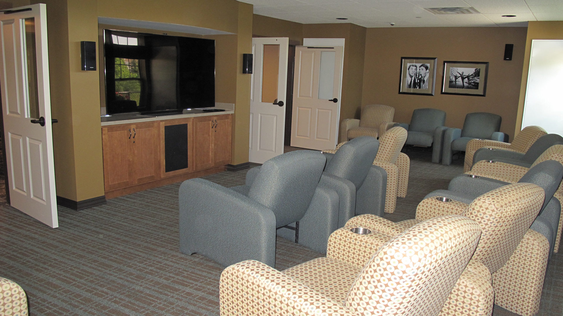 Ebenezer Arbors at Ridges Senior Assisted Living Interior Theater Room