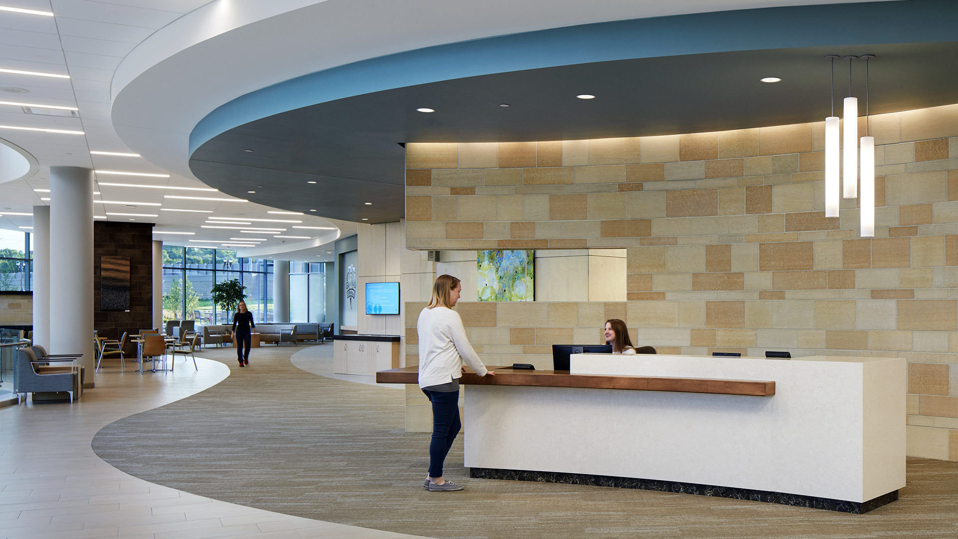 HealthPartners Neuroscience Center Reception Desk and Open Corridor