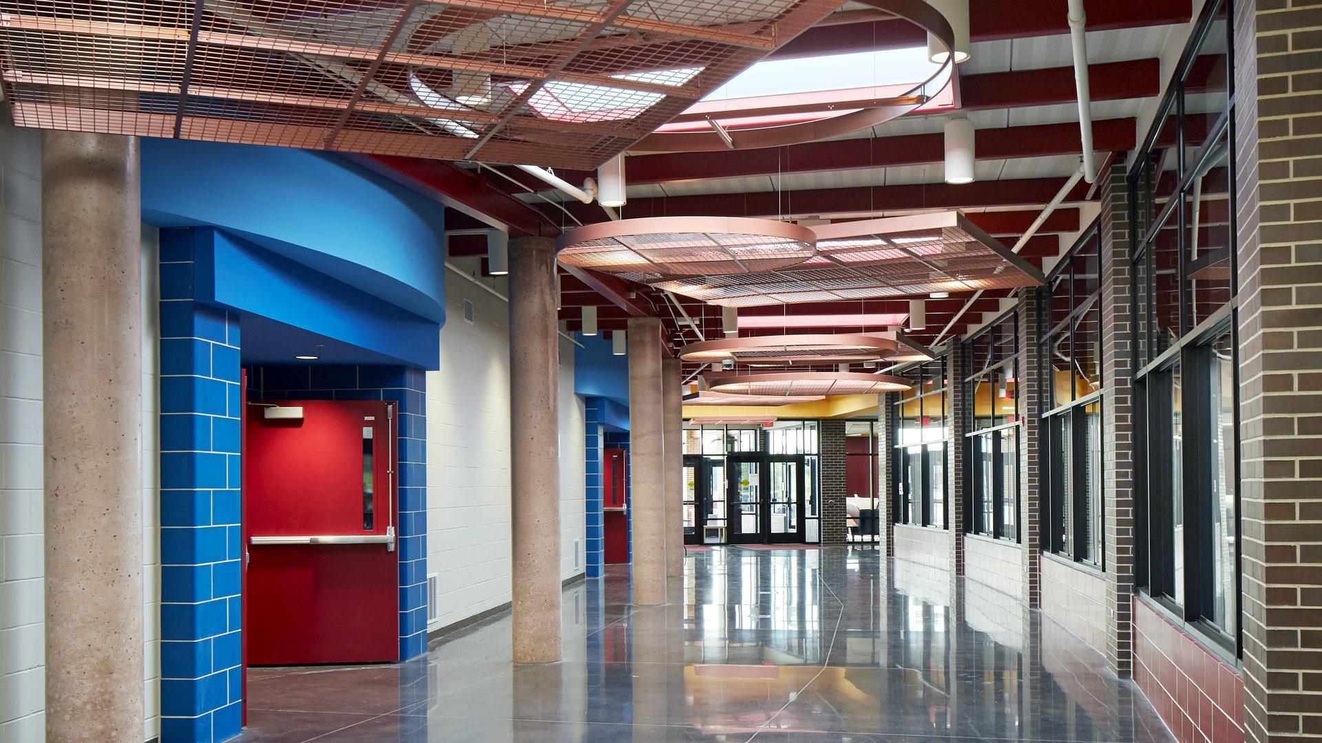 Pine Island Elementary School Pine Island MN Interior Entrance Corridor