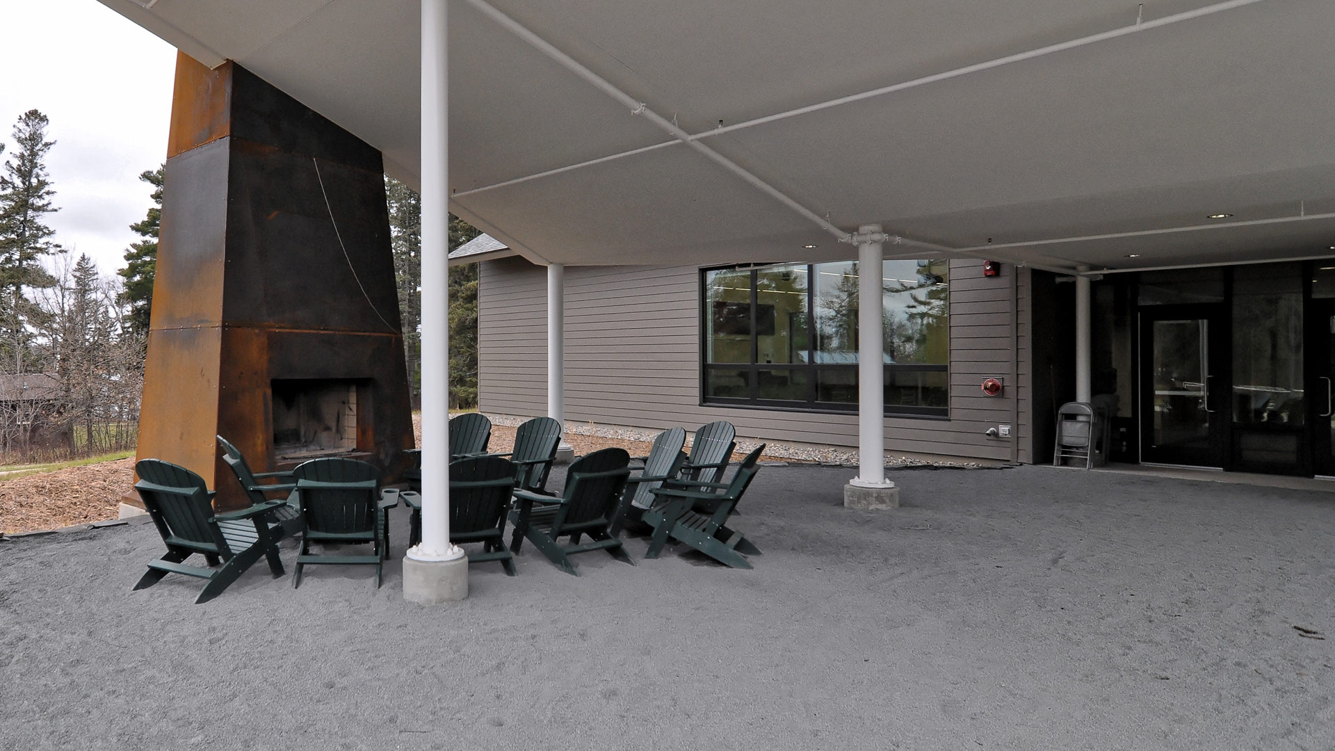 U of M Itasca Biological Station and Laboratories Outside Fireplace Seating Area Outside Entrance