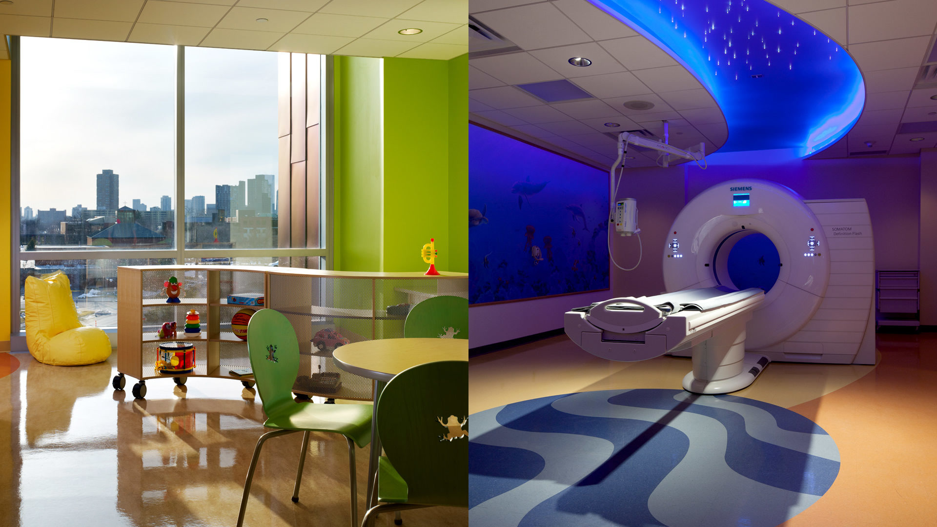 U of M Masonic Childrens Hospital Amplatz Childrens Play Room and MRI Suite