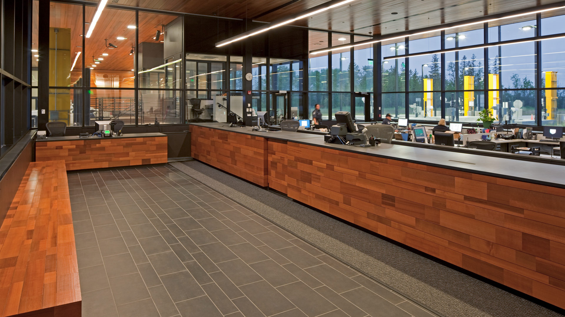 US Land Port of Entry Government Interior Reception Desk