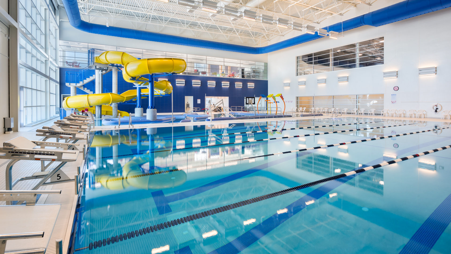 Watford Event Center Watford ND Government Pool with Water Slide