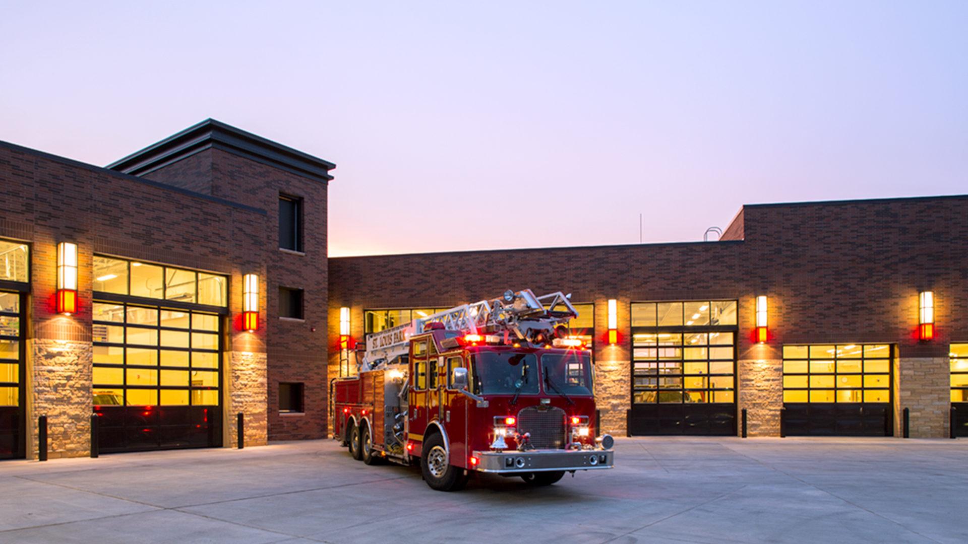 St Louis Park Fire Station 1 St Louis Park MN Fire Trucks Parked Outside Garage