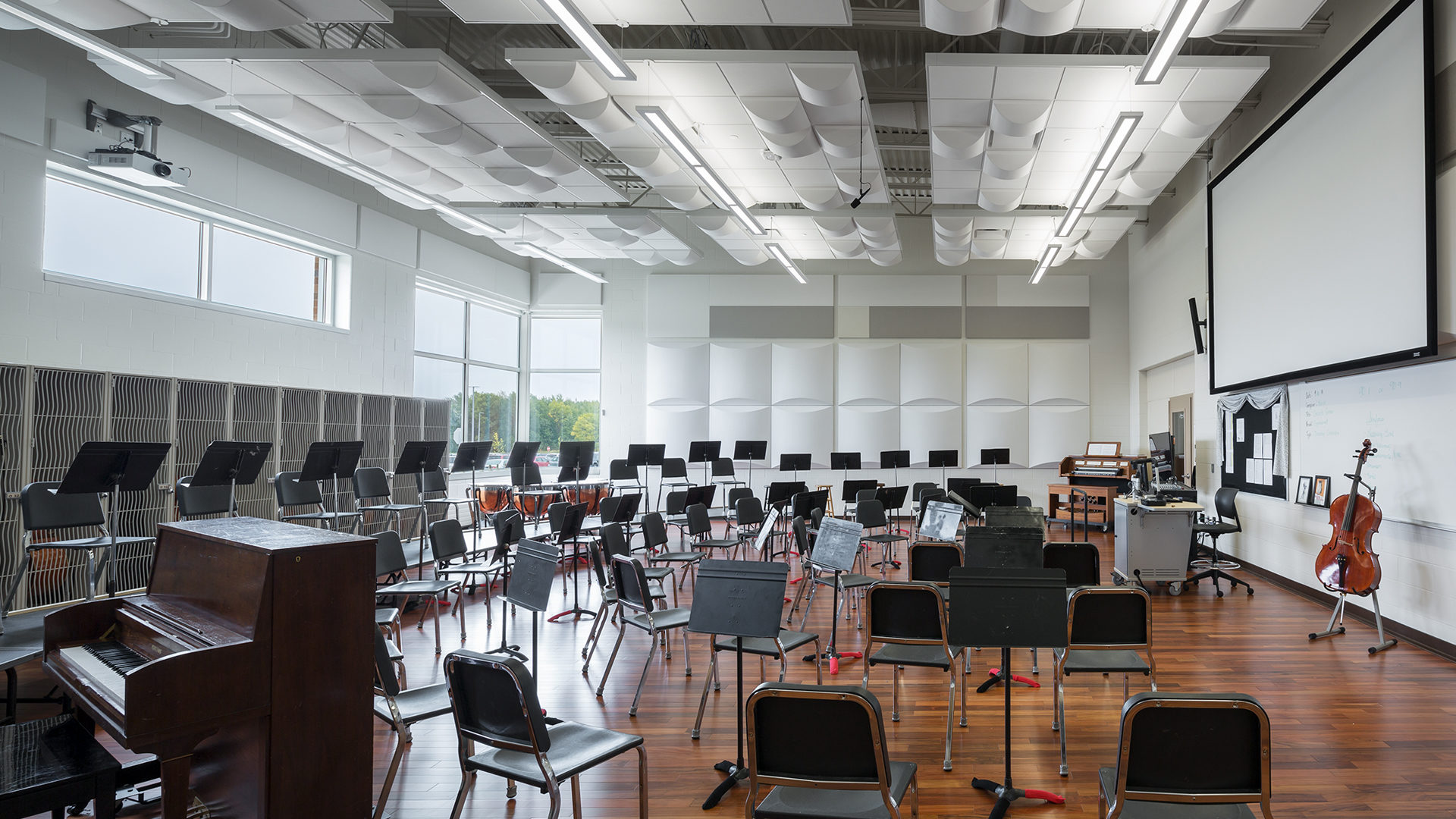 Alexandria High School Interior Music Room