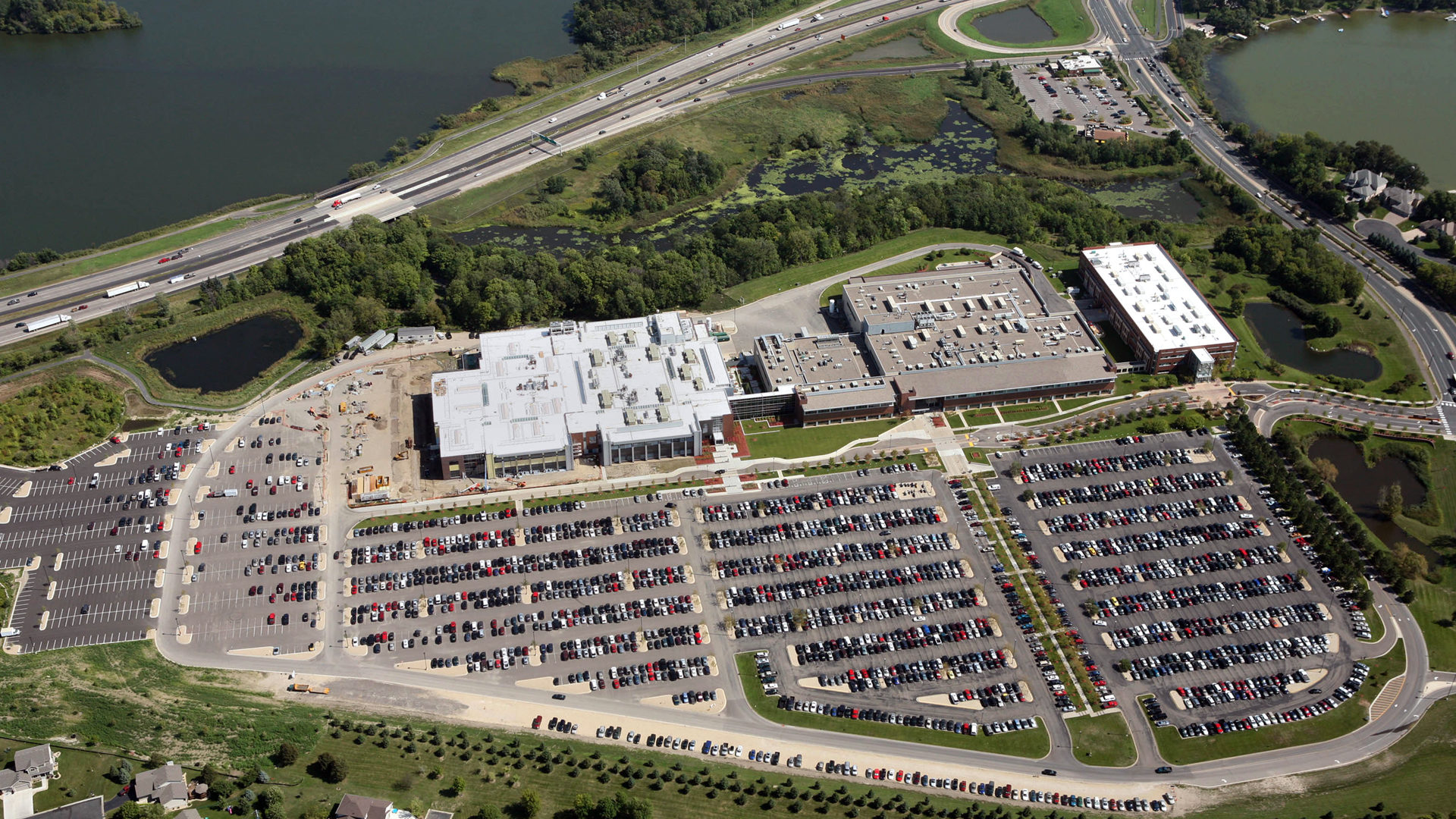 Boston Scientific Weaver Lake Phase III Expansion High Tech Manufacturing Exterior Aerial View of Campus