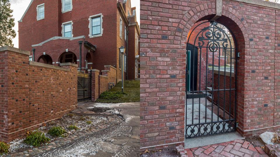 Glensheen Mansion Estate Water Damage Repair Brick Work on Mansion Exterior and Water Damage Repair on Mansion Exteriors