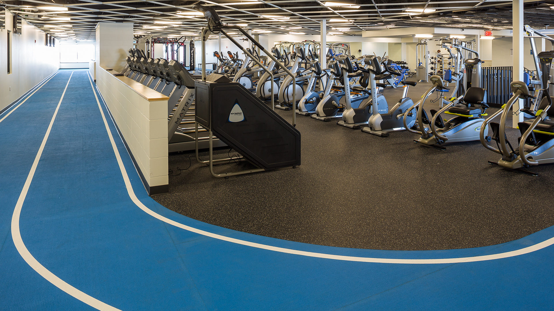 Maslowski Wellness and Research Center Wadena MN Interior Cardio Room and Walking Track