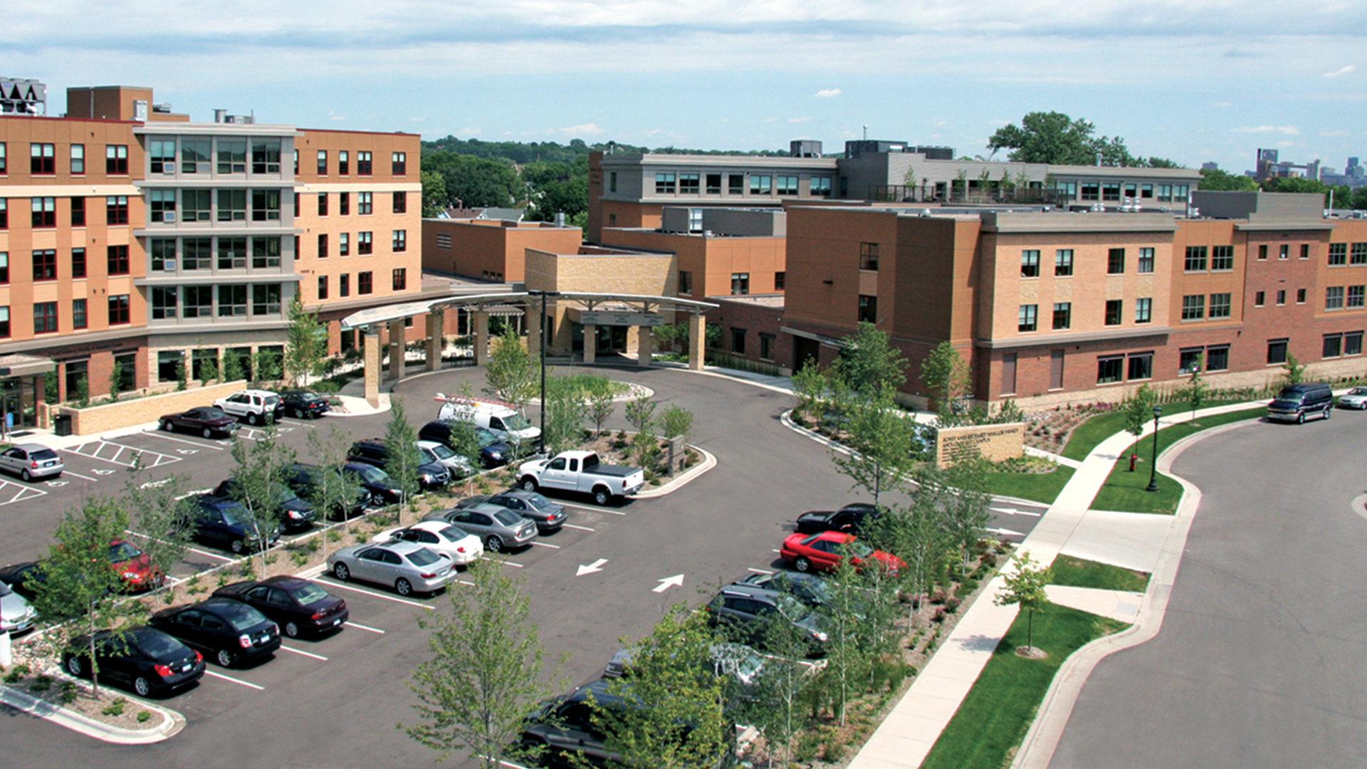 Shaller Sholom East Bentson-Chapman Senior Living Campus St Paul MN Exterior Campus View
