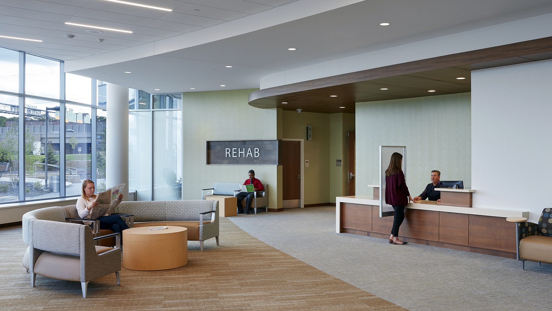 HealthPartners Neuroscience Rehab Waiting Area and Reception Desk
