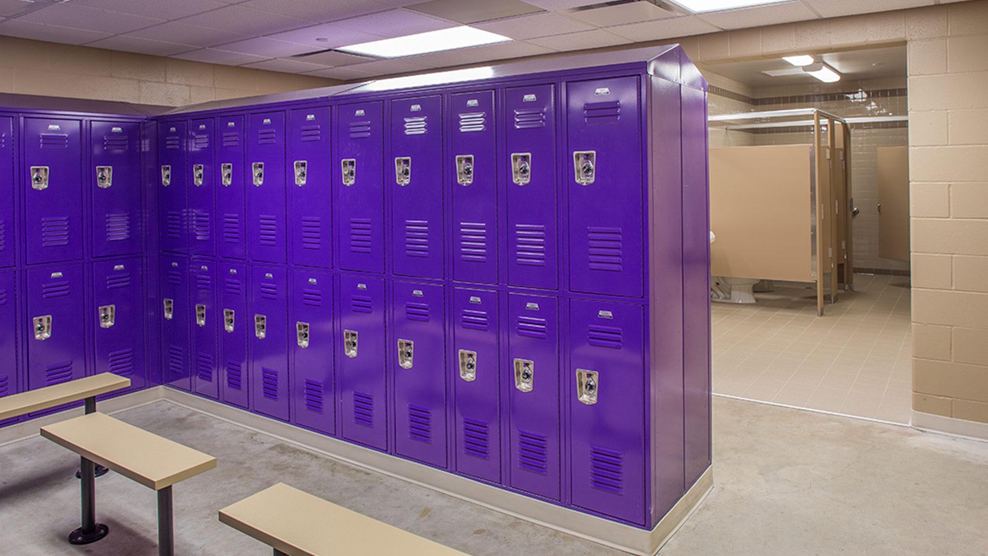 Jim Hill Middle School Minot ND Interior Locker Room