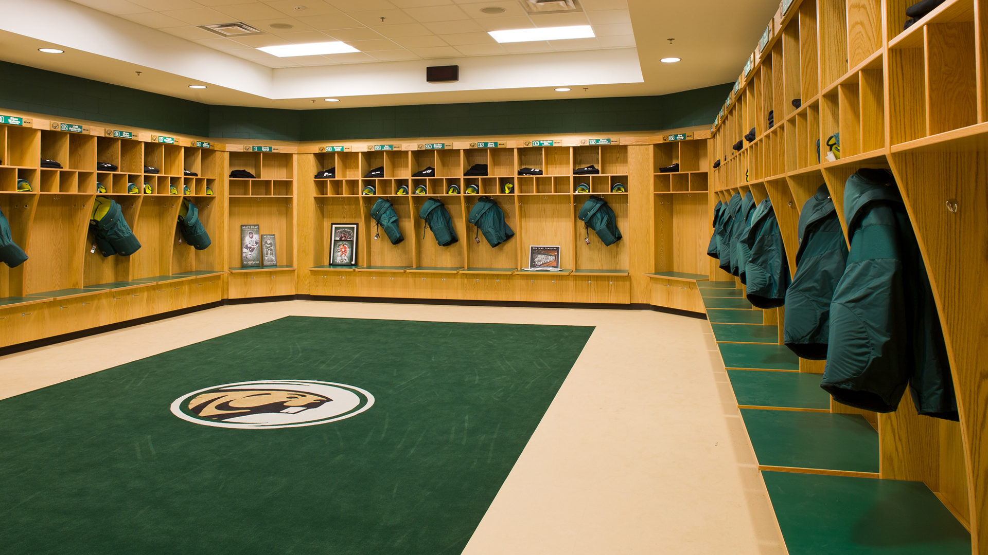 Sanford Center Ice Arena Bemidji MN Government BSU Locker Room