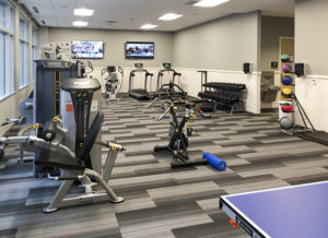 Fitness center, KA corporate headquarters