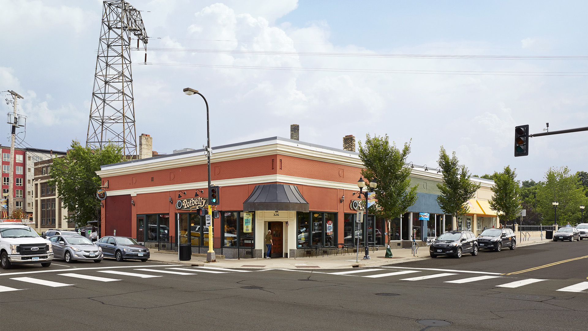 Dinkytown Retail Shopping Center Minneapolis Featuring Potbelly