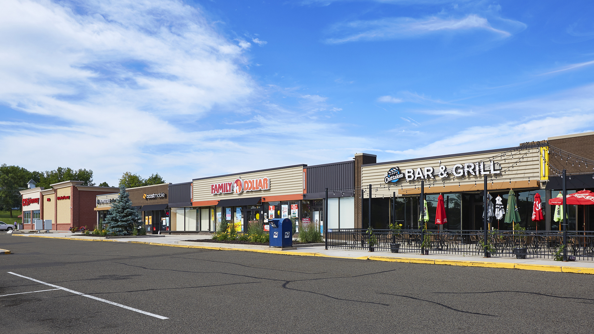 Midland Retail Shopping Center New Hope MN west strip