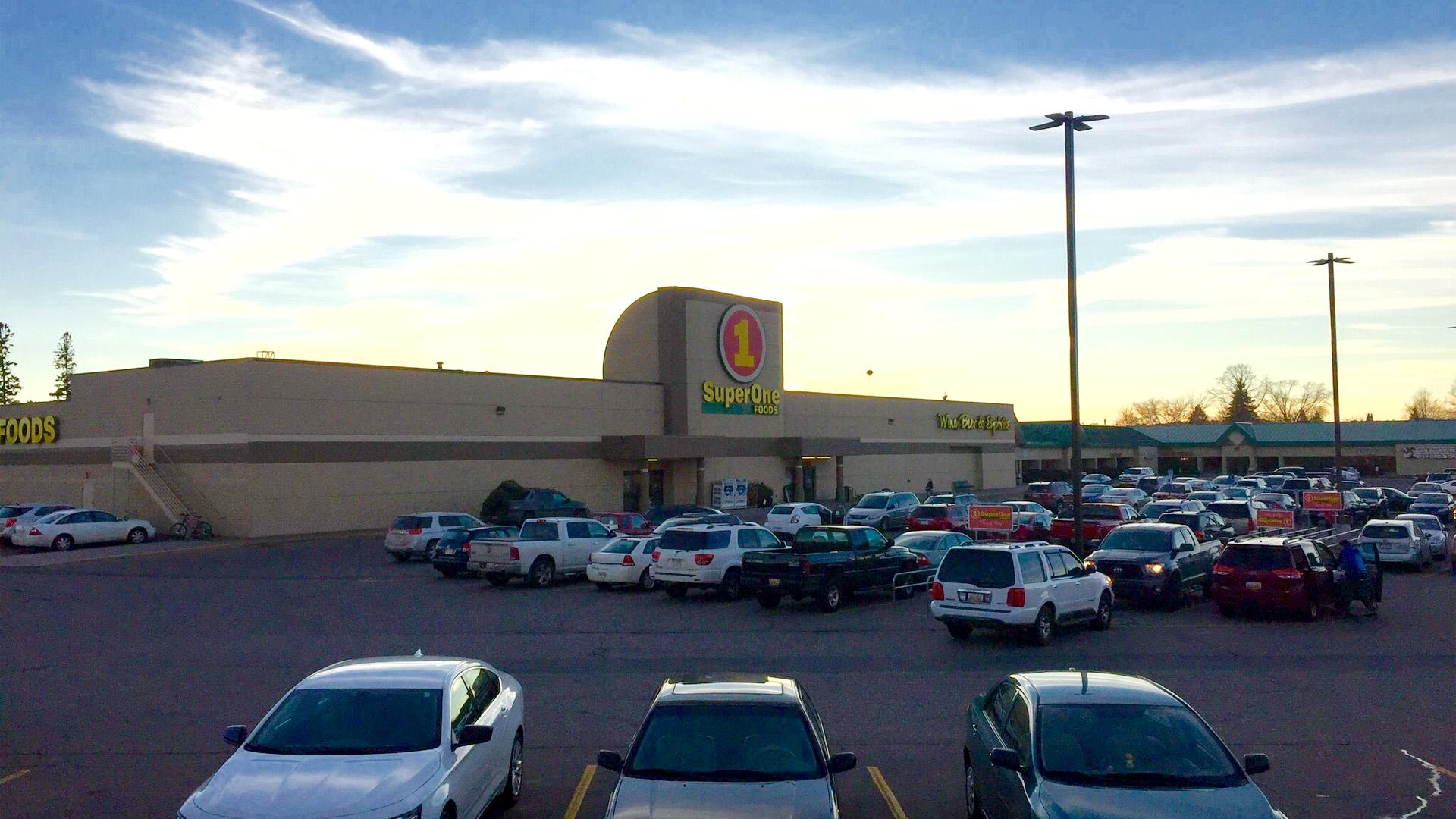 Midtown Retail Shoppng Mall Iron Mountain MI exterior featuring Super One Foods