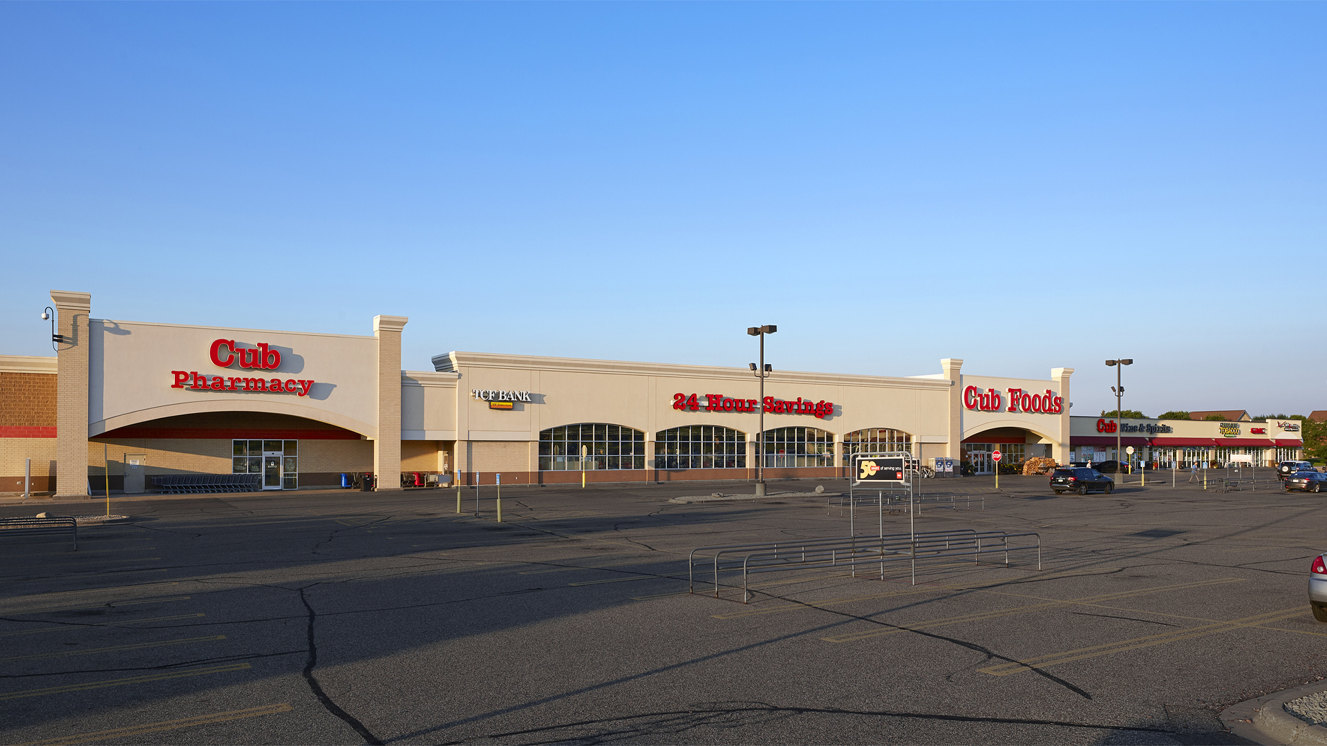 Rosemount Village Shopping Center Rosemount MN Front Elevation featuring Cub Foods