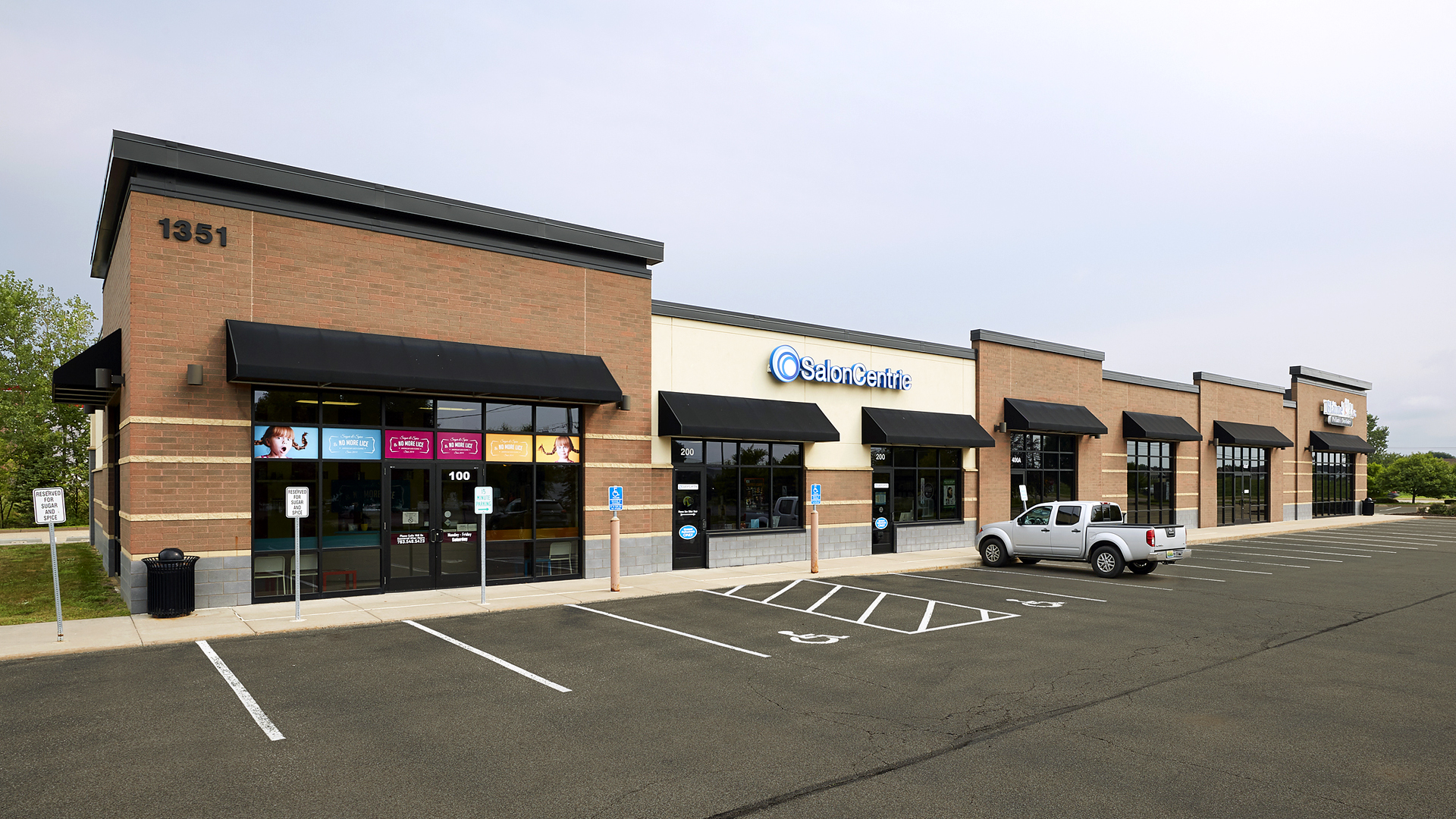 Blaine Crossing Retail Strip Mall Blaine MN Front Exterior