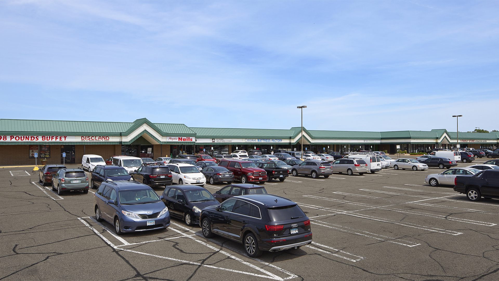 Clover Retail Shopping Center Strip Mall Front facing 98th St