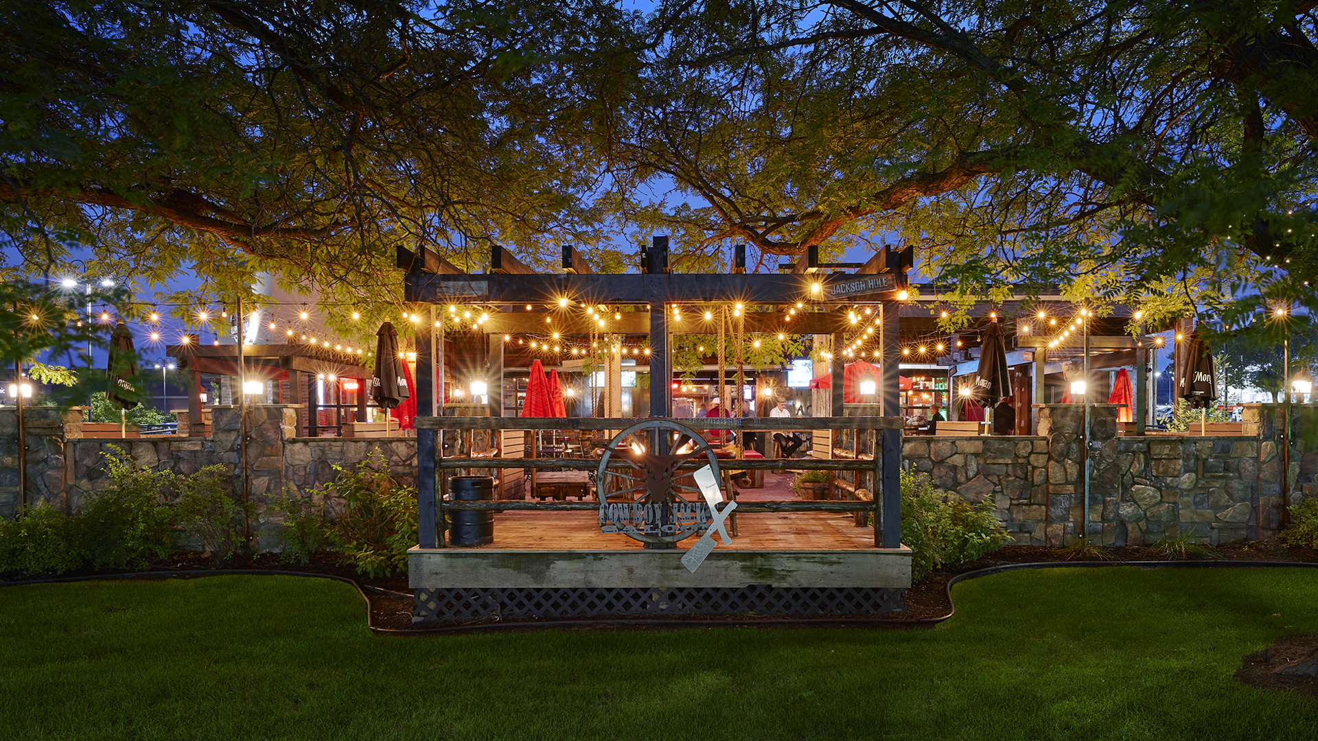 Cowboy Jacks New Brighton MN Exterior Patio Night View