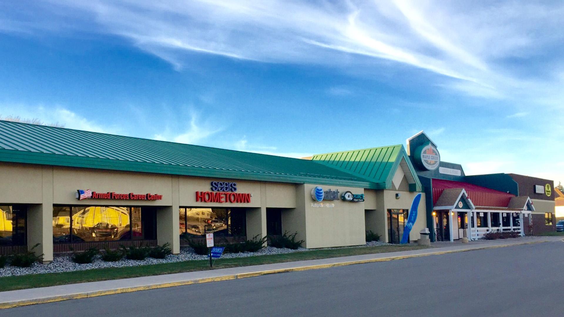 Midtown Retail Shoppng Mall Iron Mountain MI exterior north mall view