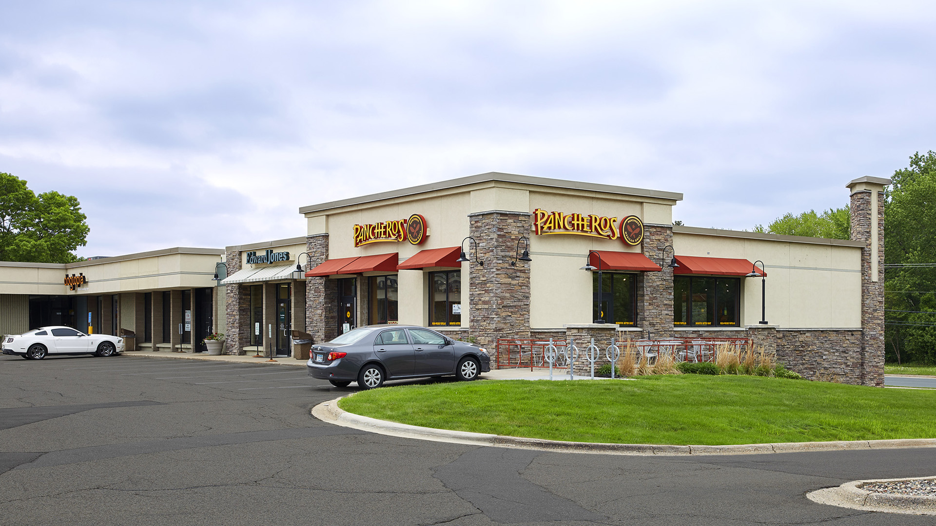 Normandale Retail Shopping Center Bloomington MN exterior view featuring Pancheros