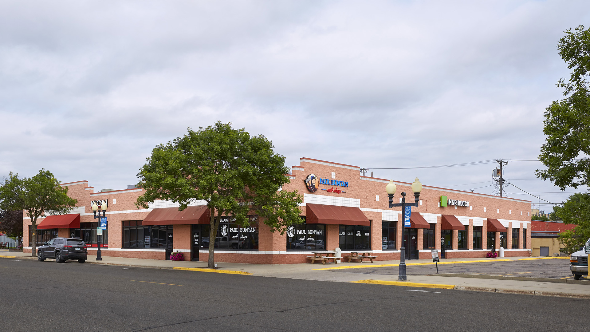 Union Square Shopping Center Bemidji MN building across 2nd street Facing Bemidji Ave