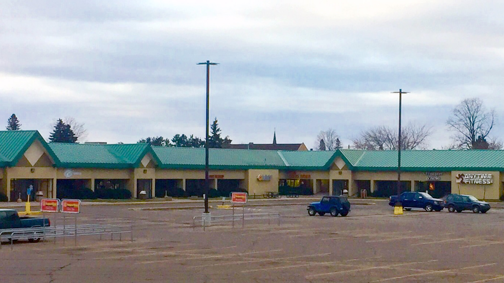 Midtown Retail Shopping Mall Iron Mountain MI exterior south mall view