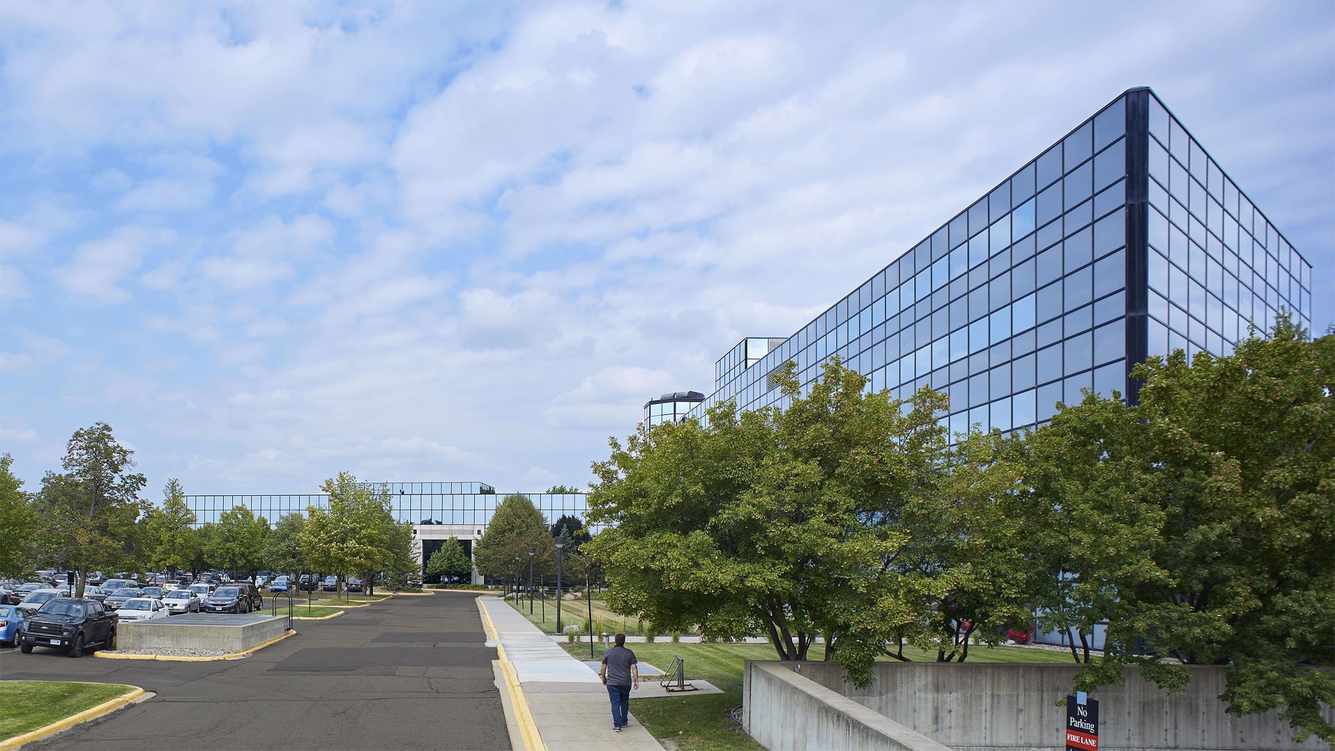 Prairie Lakes Corporate Center I and II office building exterior view