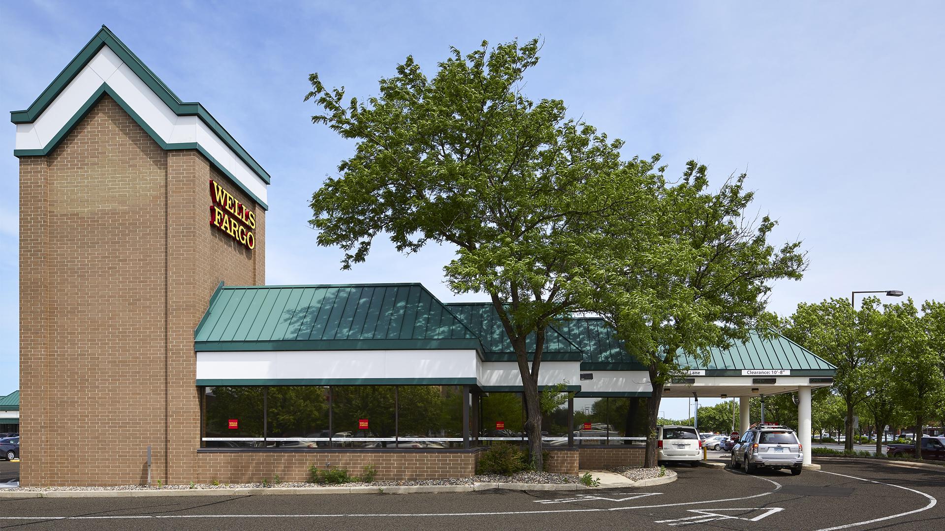 Clover Retail Shopping Center Wells Fargo Bank Tower and Drive Thru View