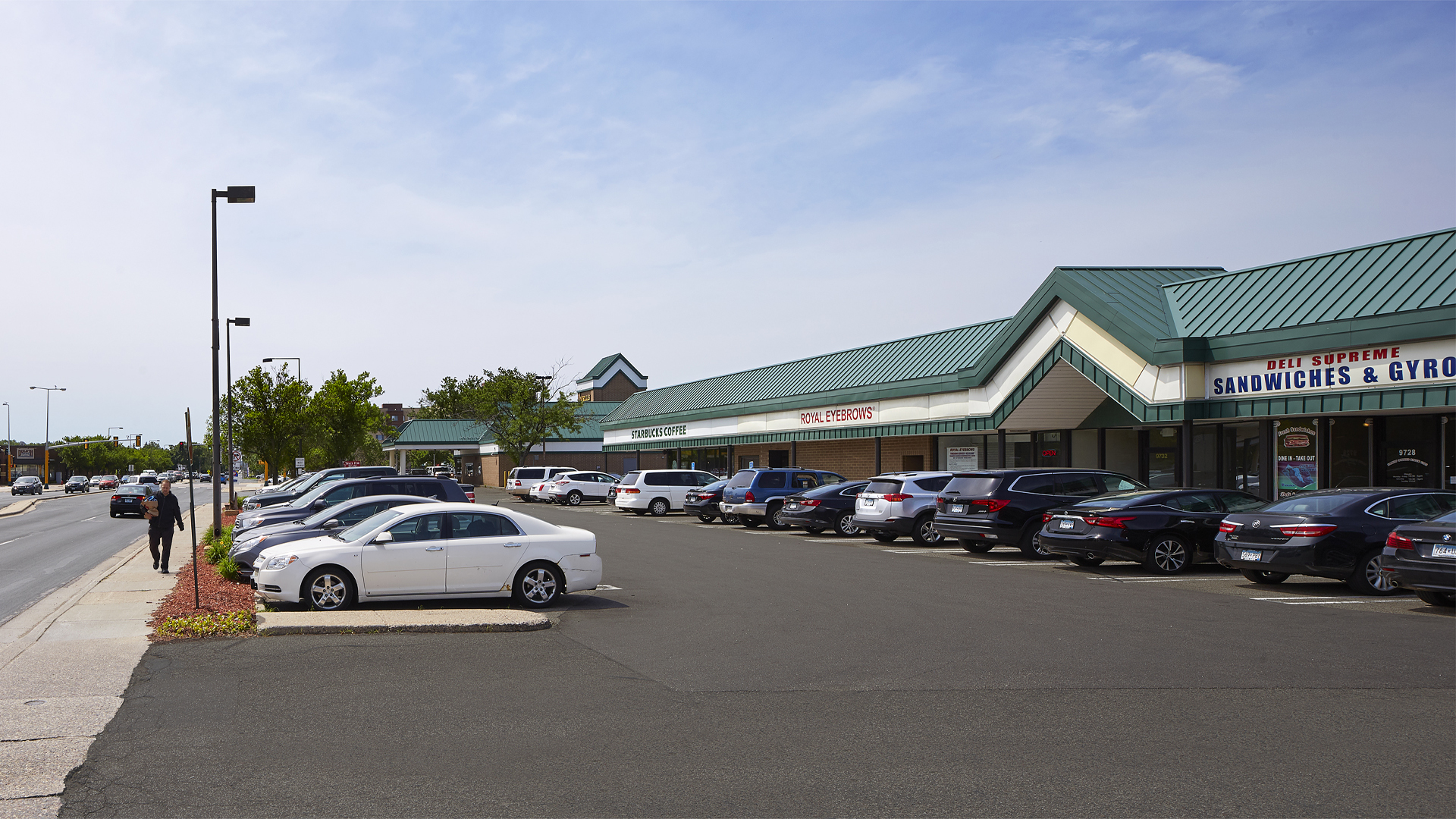 Clover Retail Shopping Center western half of strip mall