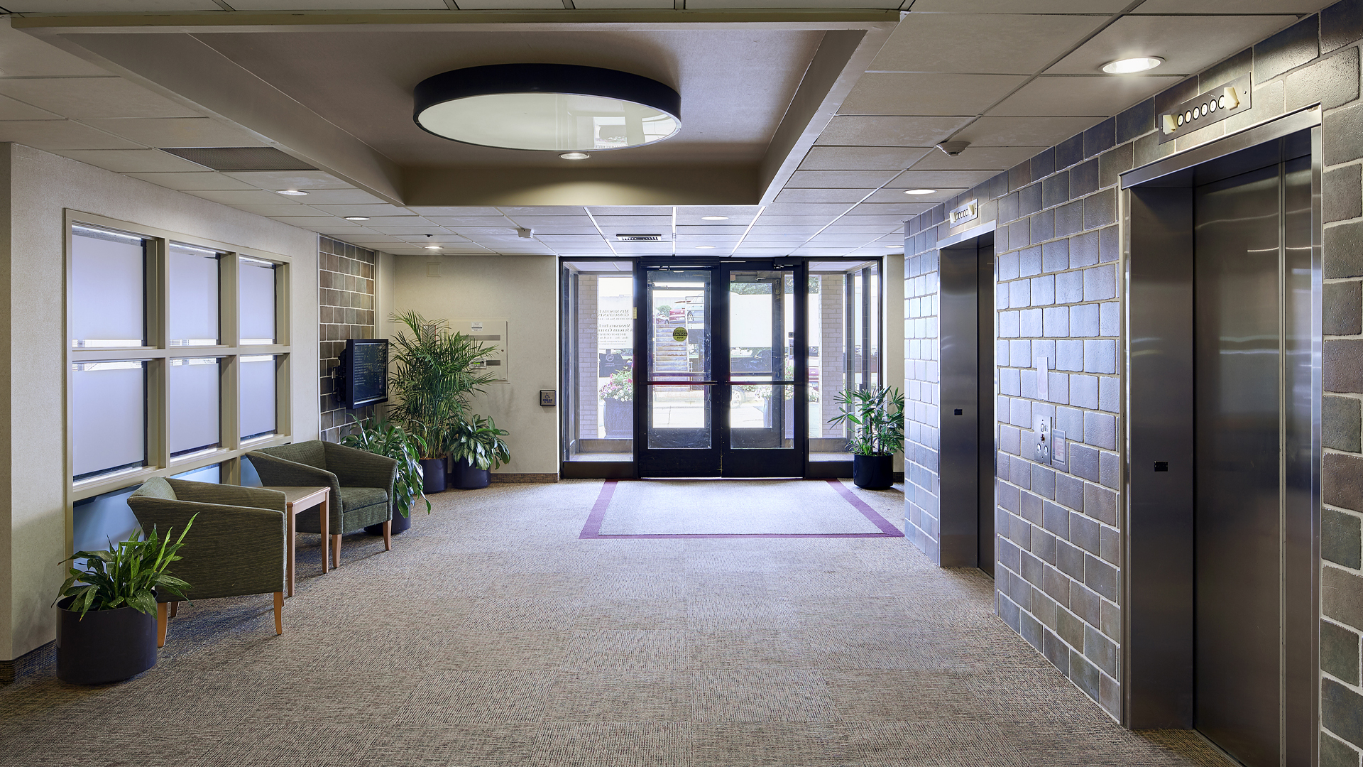 Dupont Center Office Building Bloomington MN interior entrance lobby