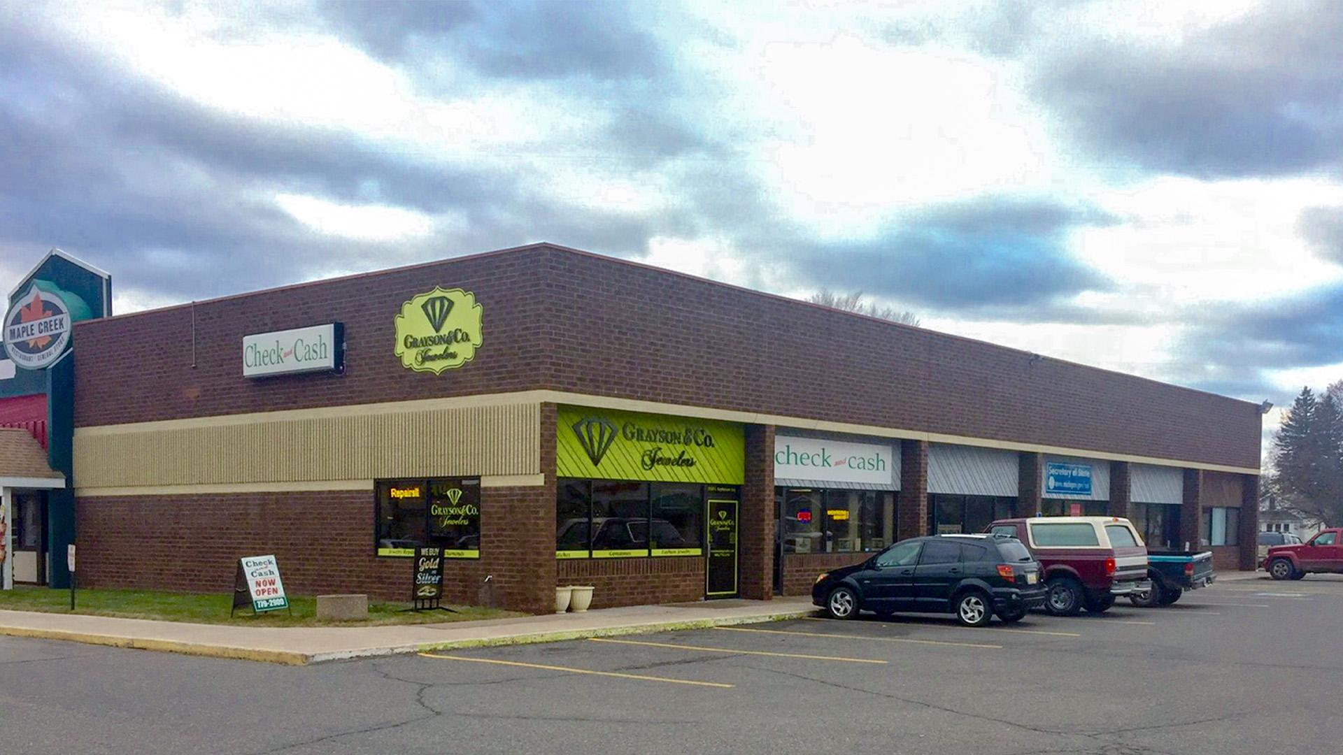 Midtown Retail Shoppng Mall Iron Mountain MI exterior north end cap