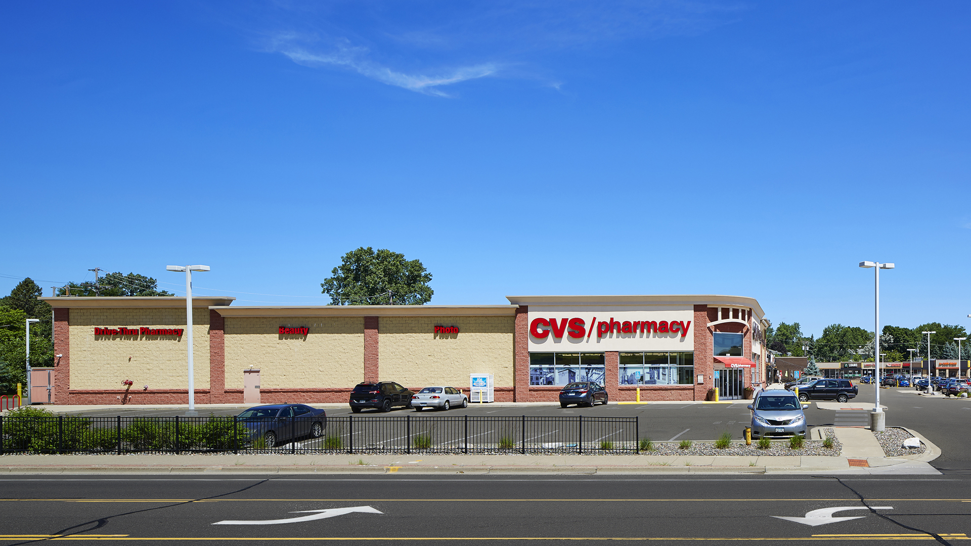 Midland Retail Shopping Center New Hope MN exterior south view of CVS Pharmacy