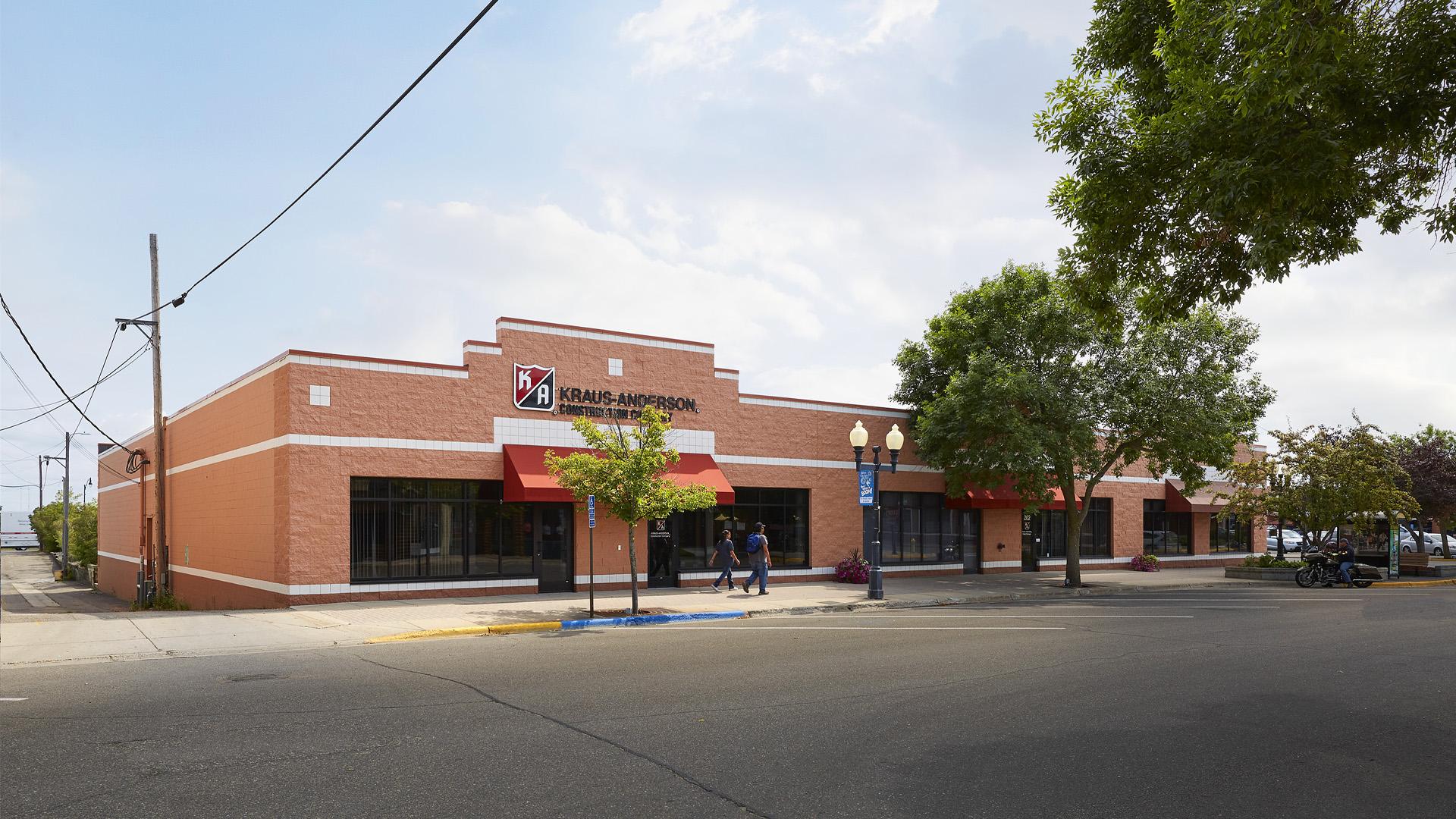 Union Square Shopping Center Bemidji MN building on 2nd and Beltrami Facing Beltrami home of KA Realty