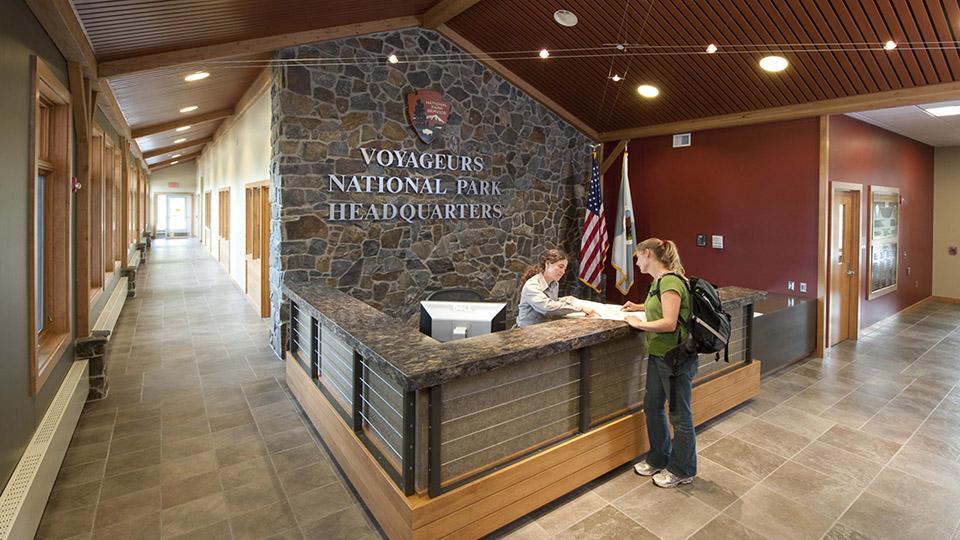 Voyageurs National Park Service headquarters International Falls