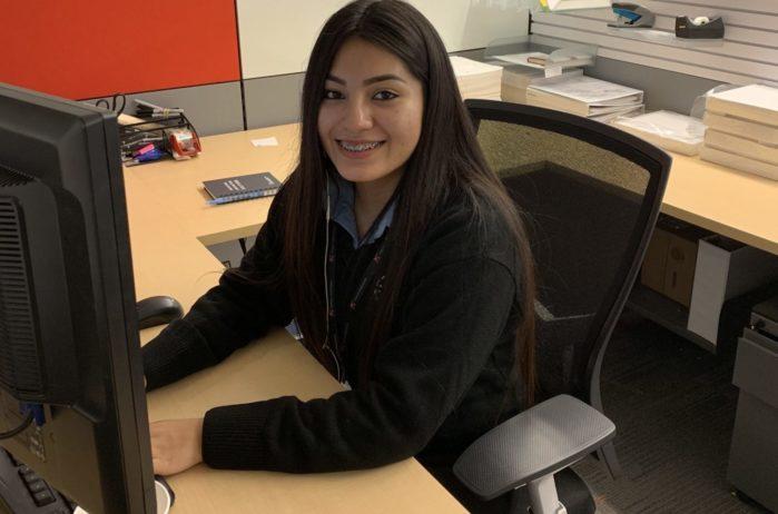 Tania at work at KA