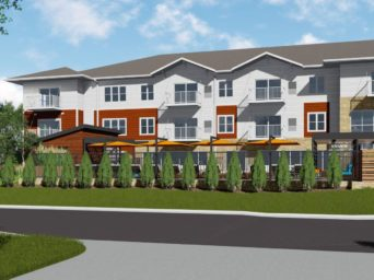 Rendering of The Chamberlain @ East Edge. The new development helps address Affordable Housing Richfield