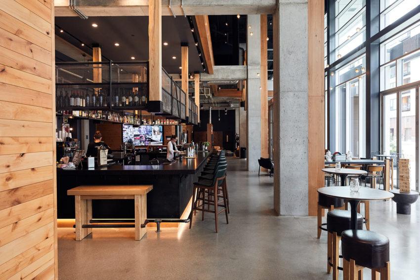 Moxy's bar area