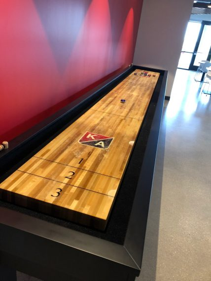 KA shuffleboard at the Kraus-Anderson Construction Madison office