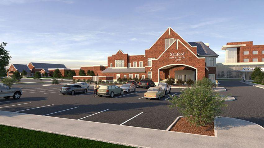 Rendering of Sanford Health heart center