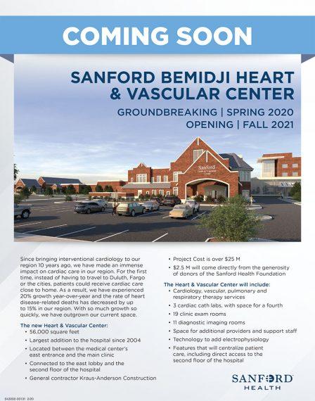 flyer for Sanford Health heart center