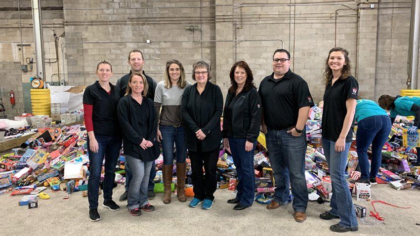 KA Has Heart volunteering at Toys for Tots distribution warehouse