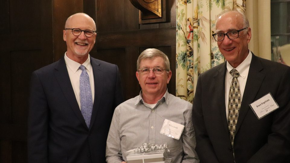 Al Gerhardt, Terry Smith and Bruce Engelsma at the Silver Service awards program