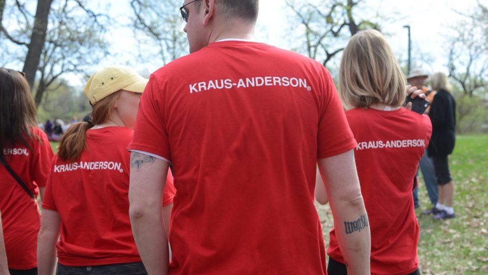 KA employees walking at the 2018 MS Walk MS Society