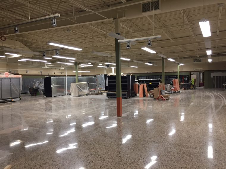 newly polished concrete floor at Jerry's Foods, Eden Prairie Special Projects