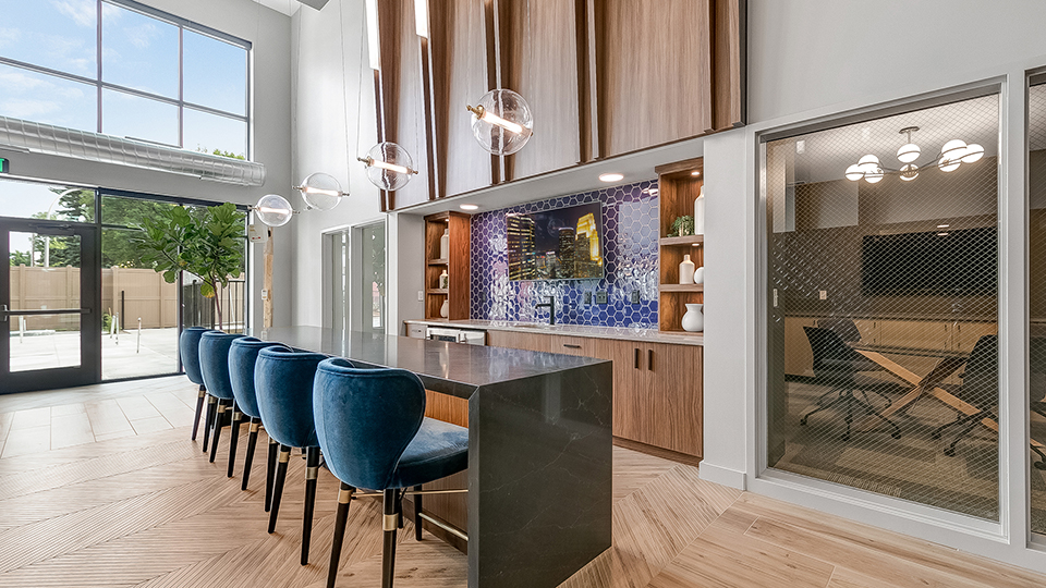 Commons area, Chamberlain Apartments NAIOP Award winner