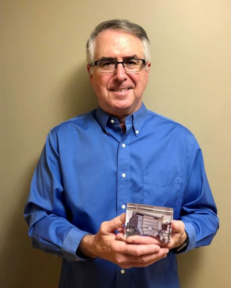 Mike with his Core Value Award